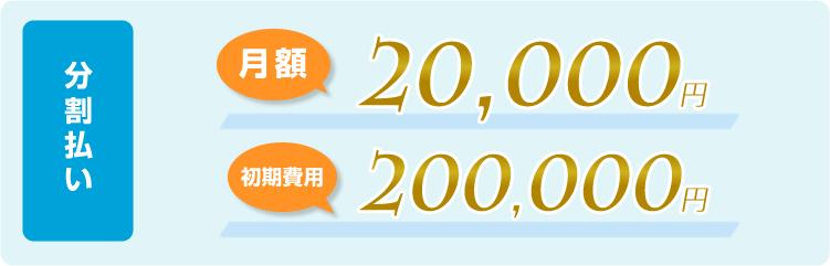 分割払い:初期費用150,000円(税別)、月額費用30,000円※